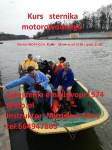 plakat kurs motorowodby