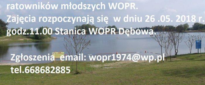 Szkolenie  młodszych ratowników WOPR