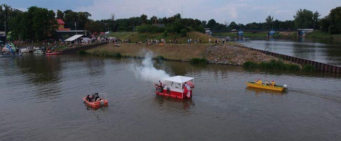 Zabezpieczenie spływu pływadeł z Raciborza do Koźla.