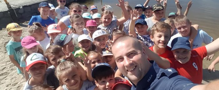 Bezpieczne wakacje z uczniami  PSP z Żyrowej.