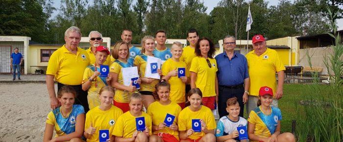 Zakończenie szkolenia ratowników WOPR  w Januszkowicach